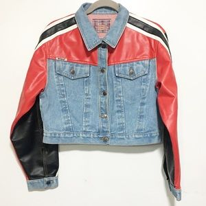 Dead stock / rare revolt biker denim short jacket